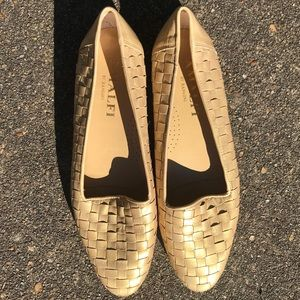 AMALFI BY RANGONI Light Gold Loafers